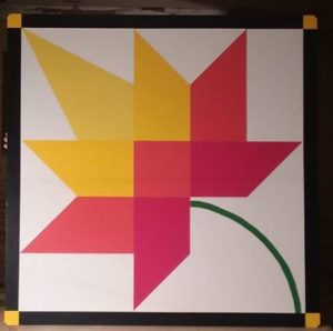 Barn Quilt, maple leaf